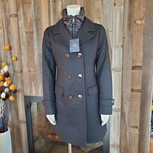 NWT Fay Double Pea Coat wool/cashmere Funnel Neck